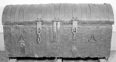14th century muniment chest for storing archives