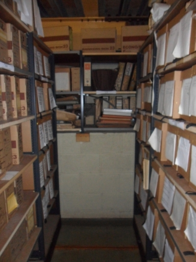 Aisle of archive storage