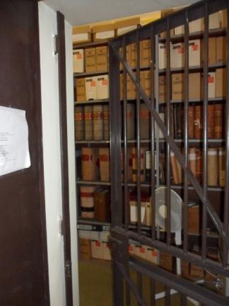 Metal strongroom door and security gate