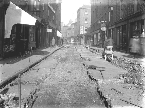 Drainage work on Church Street York in 1924