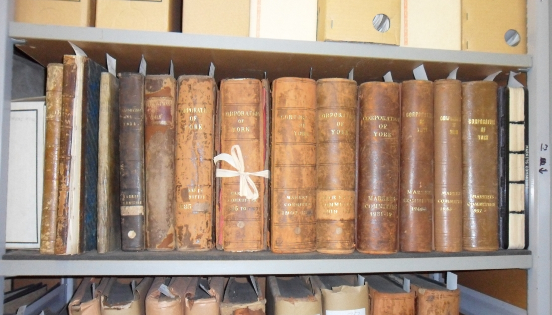 Shelf of commitee volumes