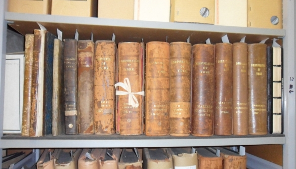 Shelf of commitee volumes