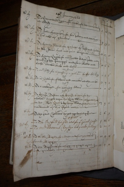 Payments made in January 1666/67