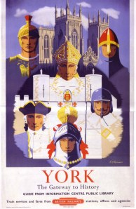 """1950's railway poster """"York: The Gateway to History"""""""
