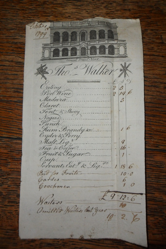 Invoice for banquet with printed decoration