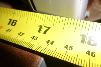 Close up of tape measure