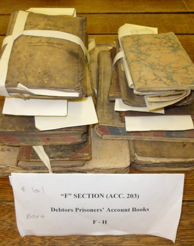 1 box of records - debtors prisoners' accounts