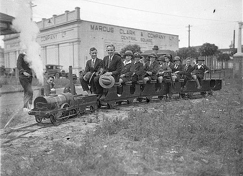 Image of Schoolboys on model train (1927)courtesy of the State Library of New South Wales