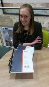Sarah with HLF project plan