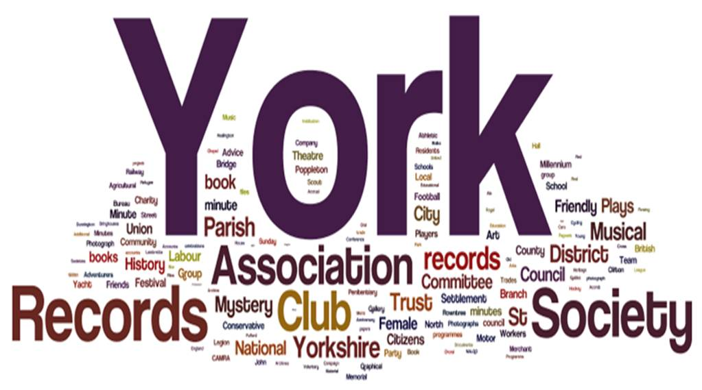 A Wordle is a great way to represent the kinds of community records we hold in the non-civic archive!