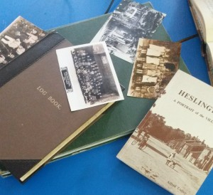 Selected items from Lord Deramore's School Archive including a local history publication for Heslington