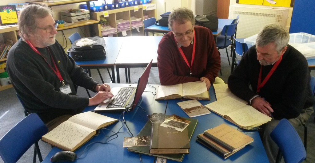 Our three experienced and dedicated volunteers hard at work at the school. From left,  Alan Bollington, Phil Batman and Roger Barham