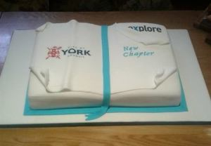 Explore launch cake