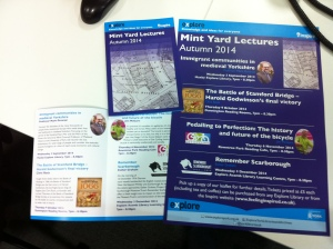 Mint Yard lecture leaflets and posters