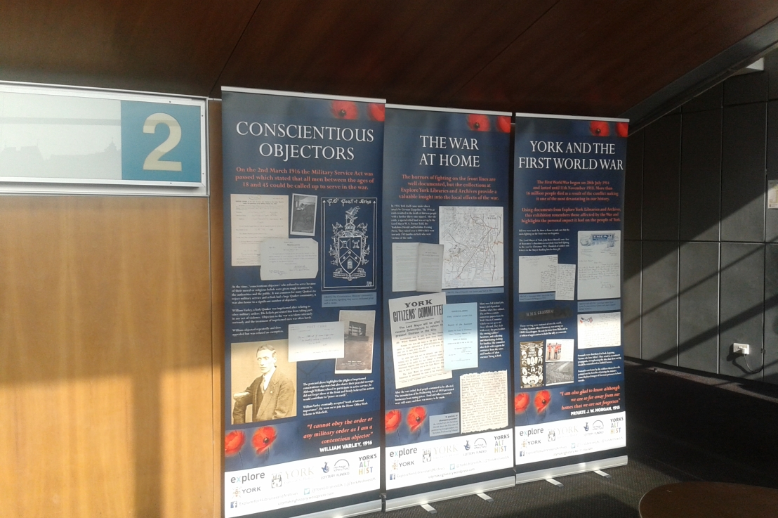 Exhibition extra! More local stories from the First World War inYork