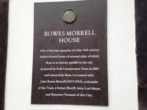 Plaque from Bowes Morrell House