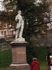 Statue of George Leeman, located just outside the walls of the City as you walk from the Station
