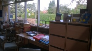 The Filing cabinets are in a great location in the library