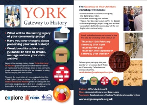 Gateway to Your Archives Workshop Leaflet