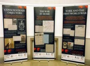 Our WW1 banner exhibition - coming soon to a branch near you!