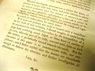 Printed letter by John Goodricke to the Royal Society proposing cause of variation in brightness of Algol