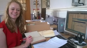 Cataloguing at the end of my first week as Community Collections Assistant