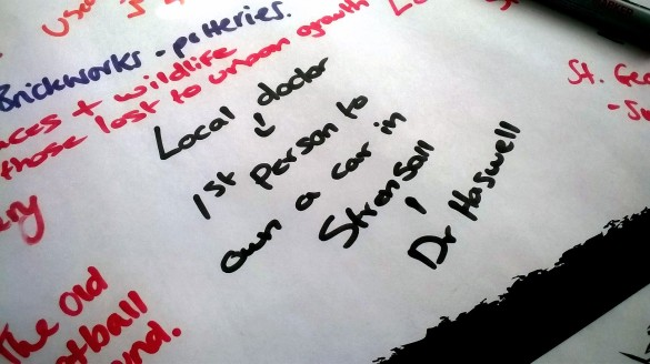 """""""What should York remember?"""" - some responses given at Strensall library Archives Roadshow."""