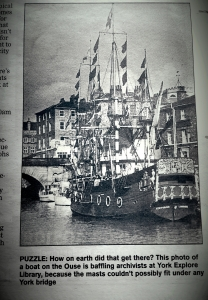 """Putting the question to you in the York Press ( """"It's amazing what you can find in a box"""", Friday 24th July)."""