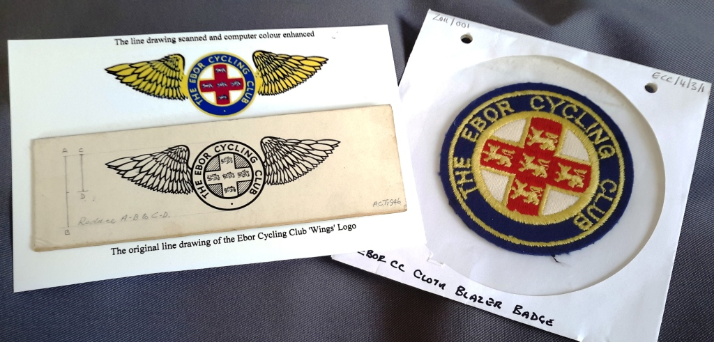 Ebor Cycling Club badges and logos (ECC/4/3)