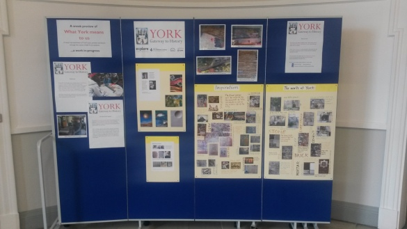 Our newly-updated display boards on the landing where the art installation will be.