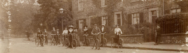 Lawrence Street Sunday School Cycling Club in about 1890 ( law_gre_42).