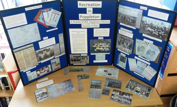 'Recreation in Poppleton: A display of the PHS archive collection'