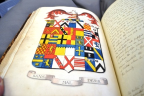 Some of the many colourful sketches in the Allen collection