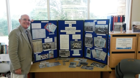Having fun setting up the Poppleton History Society display with Secretary, Julian Crabb