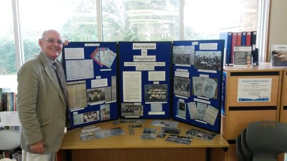 Having fun setting up the Poppleton History Society display with Secretary, Julian Crabb