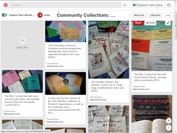 Showing off our community collections on our Pinterest board... https://www.pinterest.com/yorkexplore/