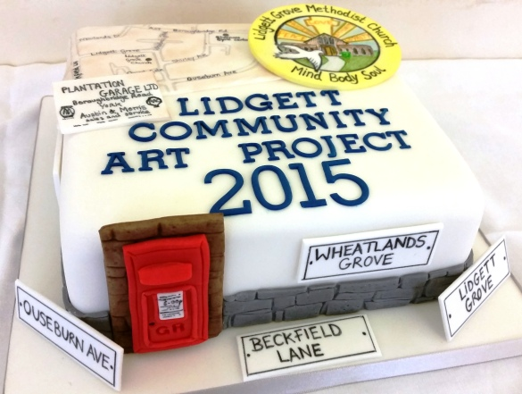 Carefully crafted art inspired cake....a must for any launch event!