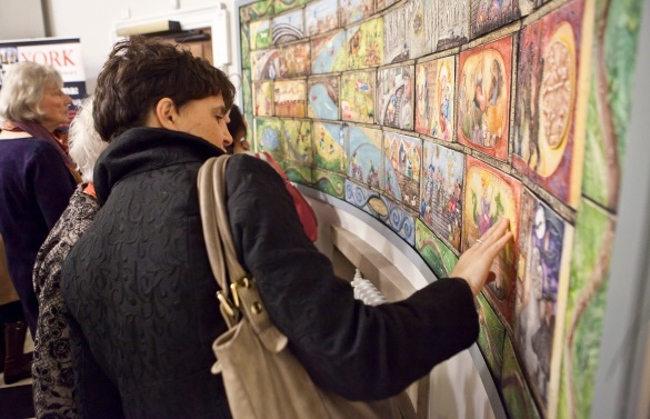 ...and watching people enjoy the artwork at York Explore!