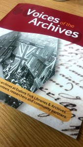 A sneak peek at our Voices of the Archives booklet!
