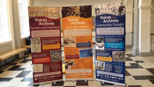 The Voices of the Archives banners