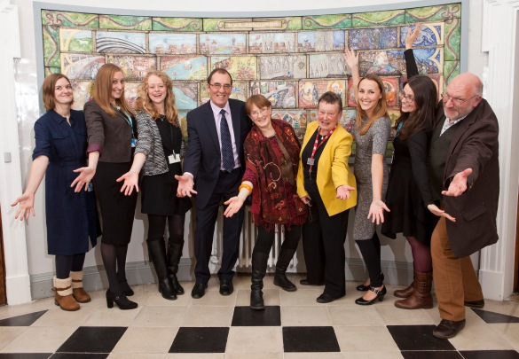 The archives team at the end-of Gateway to History project celebration event