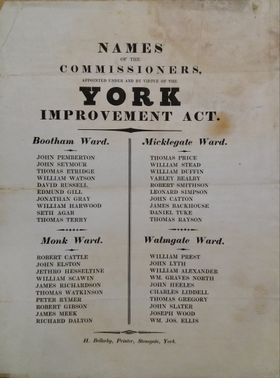 List of elected Commissioners c1830