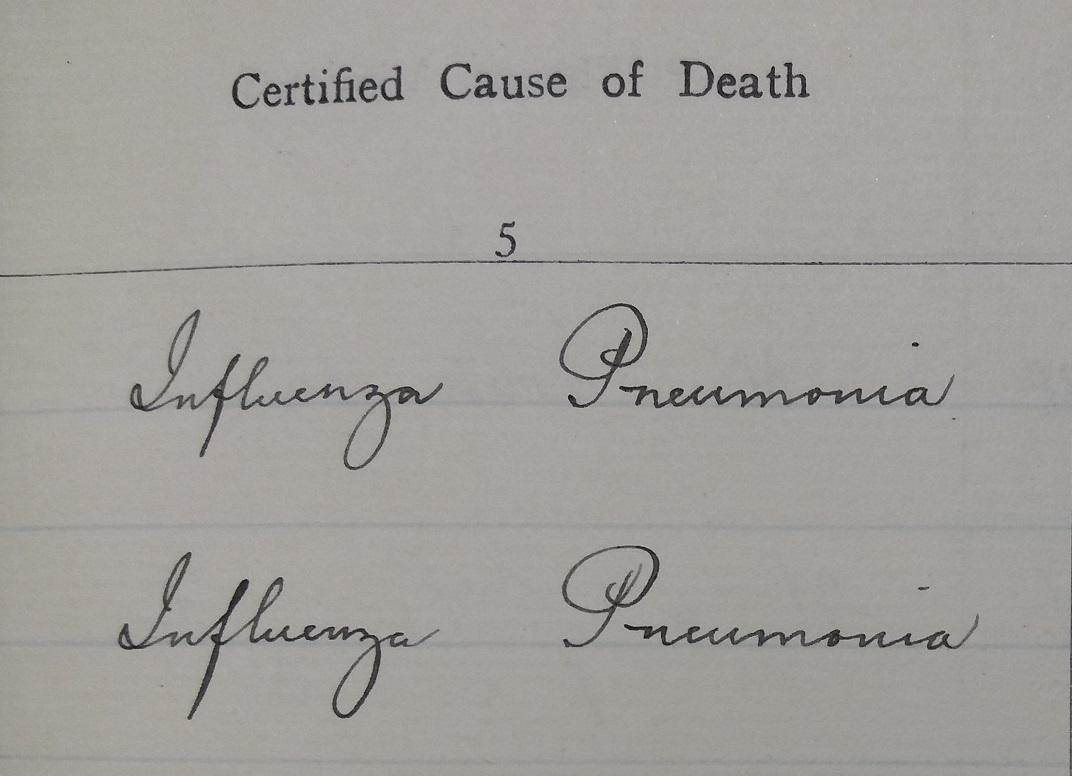Workhouse death register_1918