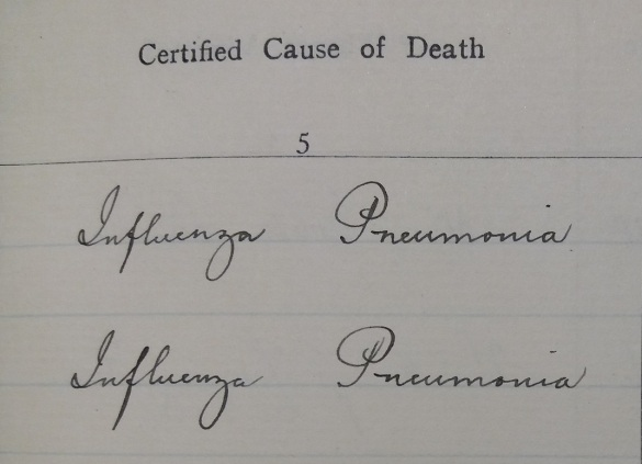 Workhouse death register_1918